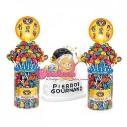 Sucette boule Pierrot Gourmand fruits & cola