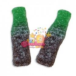 Bouteilles cola marron-vert mistral