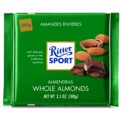 Tablette de chocolat au lait amandes entières Ritter Sport