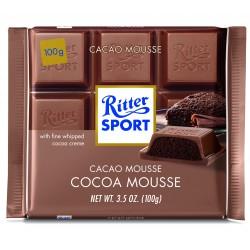 Tablette de chocolat au lait fourrée mousse cacao Ritter Sport