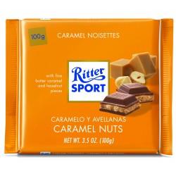 Tablette de chocolat au lait fourré caramel Ritter Sport