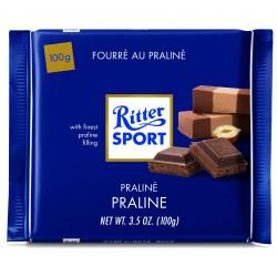 Tablette de chocolat au lait fourré au praliné Ritter Sport