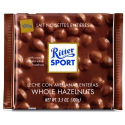 Tablette de chocolat au lait aux noisettes entières Ritter Sport
