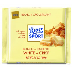 Tablette de chocolat blanc croustillant Ritter Sport