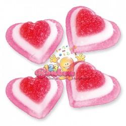 Coeur de fraise tricolore