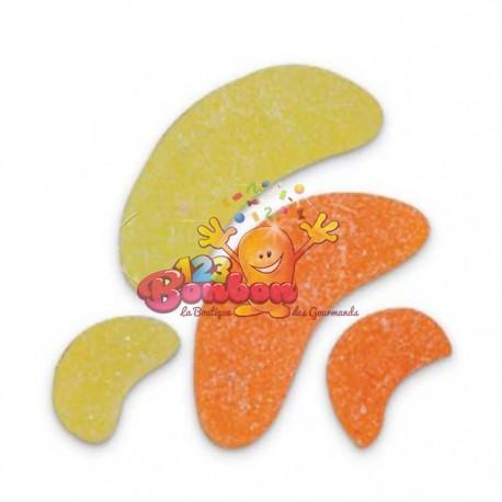 Grandes tranches gélifiées orange citron