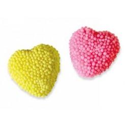 Coeurs jaunes et roses