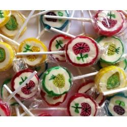 Sucette Rock Fruits & Fleurs