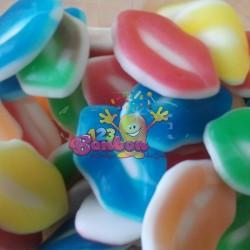 Lèvres multicolores lisses