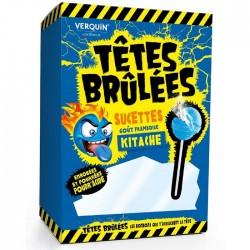 Sucettes Têtes Brulées - Goût Framboise -