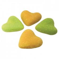 Coeurs aérés mix oranges et verts