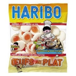 Oeufs au plat sachet Haribo