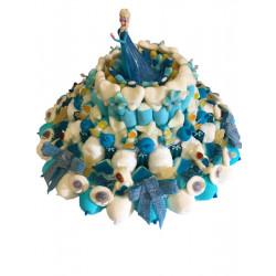 Gâteau de bonbons - La Reine des Neiges 3 niveaux
