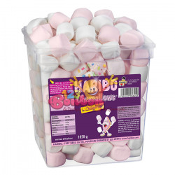 Chamallows Haribo roses et blancs *Destockage DLUO 03.2021*