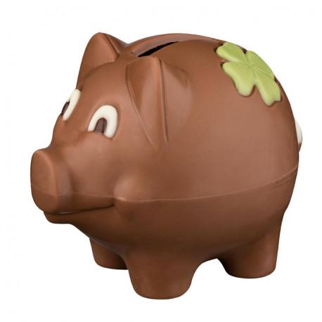 Tirelire cochon en chocolat