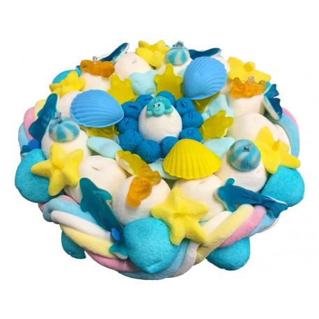 """Gâteau de bonbons """" Coquillages & crustacés """""""