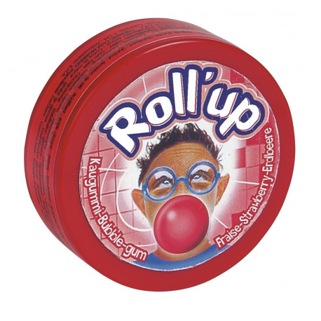 Chewing gum Roll up Fraise