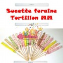 Sucettes foraines grand tortillon 95  g - Lot de 3
