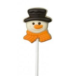 Sucette chocolat bonhomme de neige