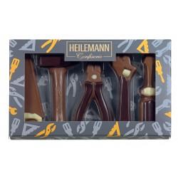 Coffret thématique outils en chocolat