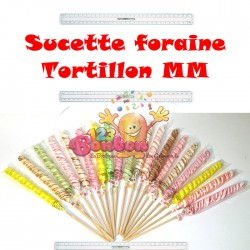 Sucette foraine tortillon GM unité *Destockage*