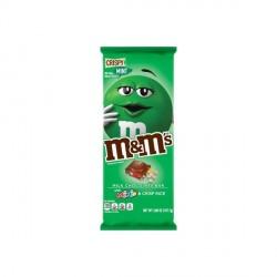 Tablette chocolat M&m's à la menthe et riz soufflé