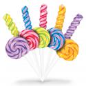 Sucette rainbow pop XL