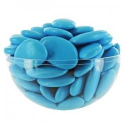 Dragées chocolat 54 % couleur bleue turquoise